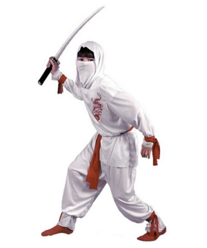 White Ninja Kids Costume