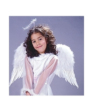 Black Feather Angel Wings - Child Accesory