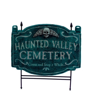 Haunted Valley Cemetery Lawn Signs - Halloween Decoration