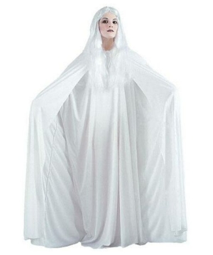 White Hooded Cape 68 Inches