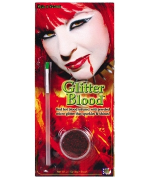 Blood Glitter Gel Costume Makeup
