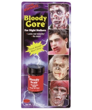 Blood Fresh Scab Costume Makeup