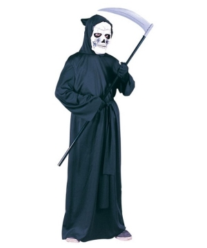Grim Reaper Robe Kids Boys Costume