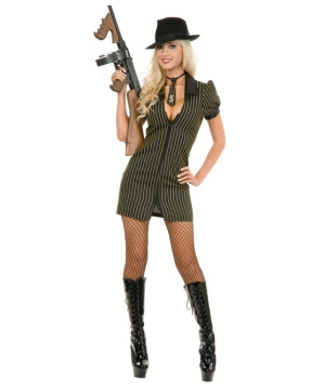 Gangster Moll Dress Women Costume