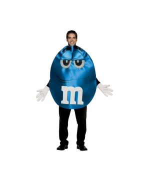 M and Ms Blue Costume - Adult Costume deluxe