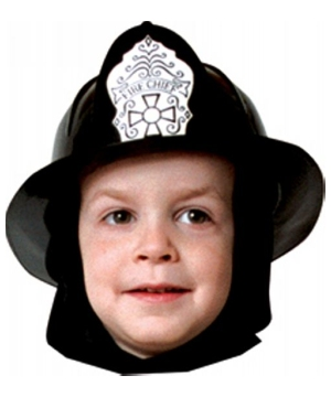 Fire Fighter Black Helmet Kids