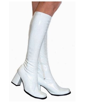 Go Go Boots White - Women Shoes