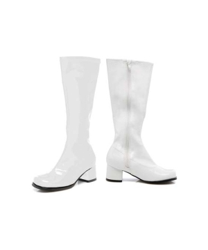 White Go Go Girls Boots