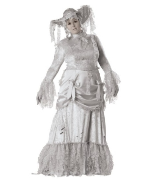 Ghostly Lady Adult plus size Costume deluxe