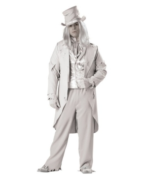 Ghostly Gent Mens Costume plus size