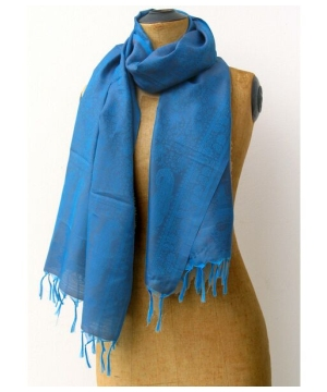 Indian Damask Scarf Silk Shawl Long Stole
