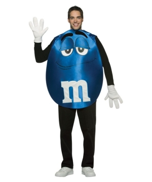 M and M Blue Poncho Adult Costume
