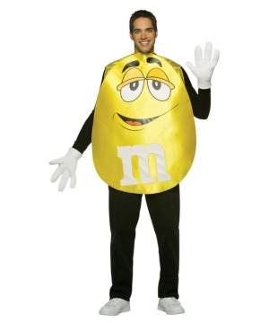 M and M Yellow Poncho - Adult Costume