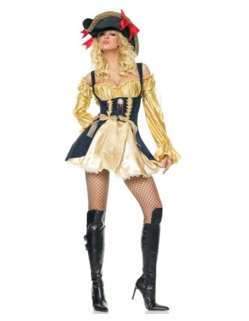 Marauder's Wench Gold/black Costume
