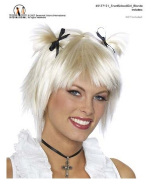 School Girl Blonde Wig