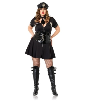 Officer Naughty Costume - plus size Adult Costume