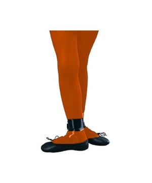 Orange Kids Tights