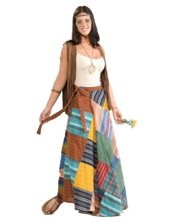 Patchwork Wrap Skirt