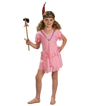 Pink Indian Girl Costume - Kids Costume
