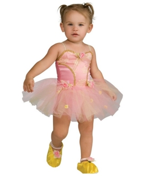 Pink Rose Ballerina Girls Costume