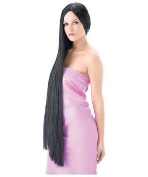 Black Witch Adult Wig deluxe