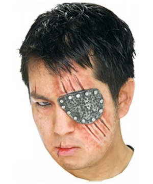 Metallic Look Latex Eye Patch