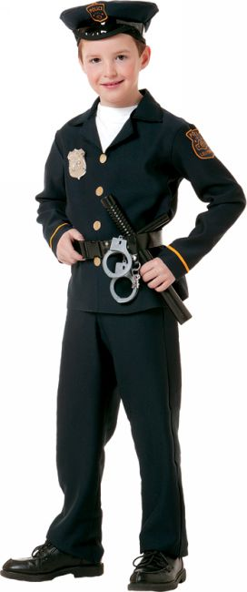 Kids police officer costume boys police costumes - Police officer child costume ...