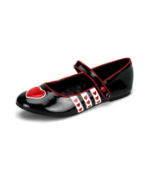 Queen of Hearts Adult Flats Shoes