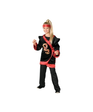 Red Dragon Ninja Kids Costume