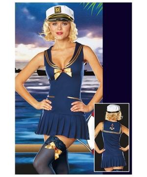 Seaside Pin up Girl Women Costume