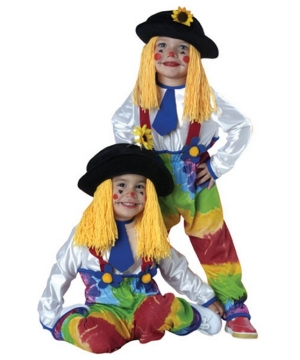 Colorful Clown Yarn Toddler Costume