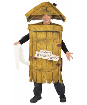 Outhouse Adult Costume - Halloween Costume