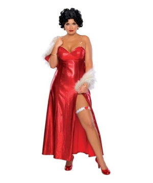 Betty Boop Costume-adult plus size