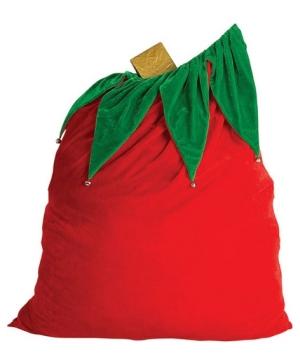 Velvet Santa Bag With Bells