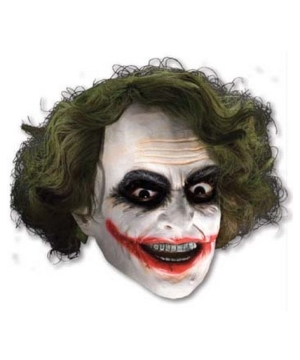Joker Mask With Hair - Adult Costume