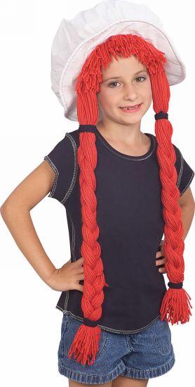 rag doll hat with hair kid halloween costume