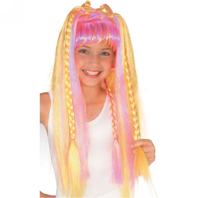 Funky diva wig kids halloween costumes for Funky diva
