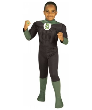 Green Lantern Muscle Boys Costume