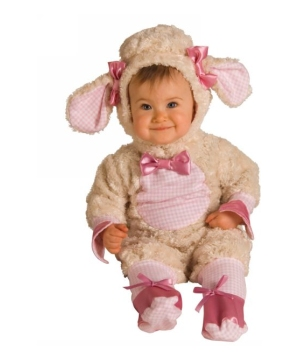 Pink Lamb Baby Costume