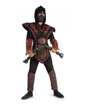 Red Skull Warrior Ninja Boys Costume