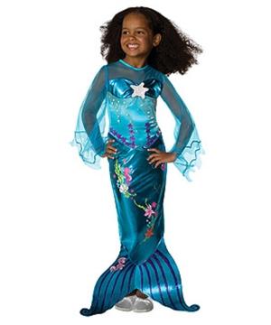 Blue Magical Mermaid Girl Costume