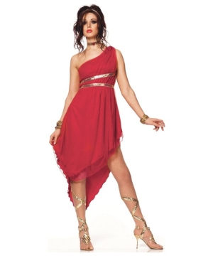 Ruby Goddess Womens Greek Costume