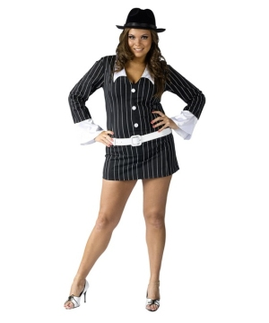 Sexy Gangster Costume - Adult plus size Costume