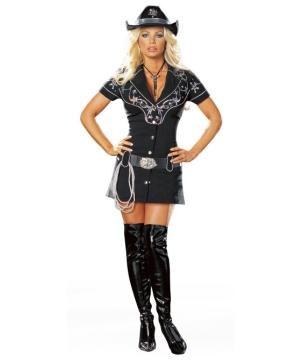 Sexy Rhinestone Cowgirl Women Costume
