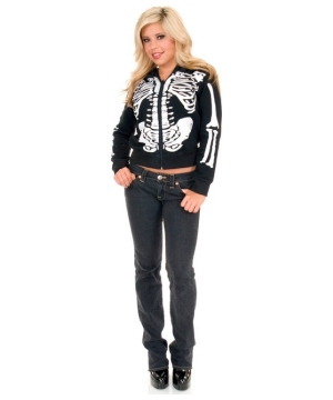 Skeleton Female Hoodie Teen Costume