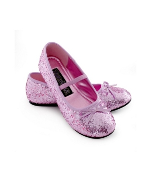 Pink Sparkle Ballerina Kids Shoes