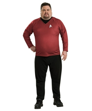Star Trek Movie Red Shirt deluxe - Adult plus size Costume