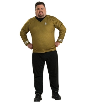Star Trek Movie Gold Shirt Costume - Adult plus size Costume deluxe