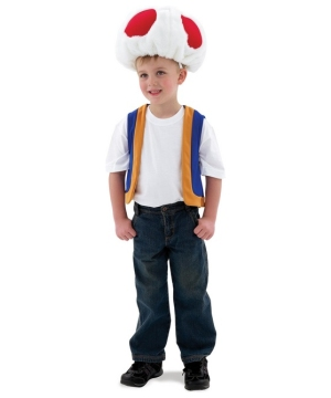 Super Mario Toad Kids Costume