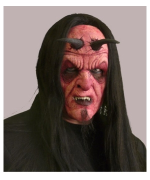 Devil full Face Foam Prosthetic - Costume Accessory